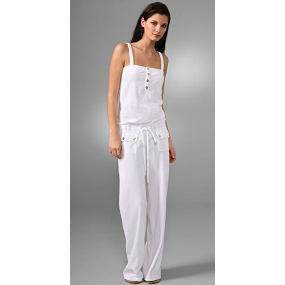 ac7fdd64bc80 Juicy Couture Pants - 🎉Juicy Couture White   Gold Terry Cloth Jumpsuit